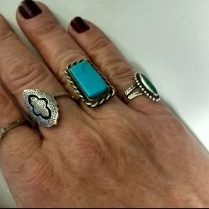 🦃SALE NativeAmerican925 Clarence Bailen Turquoise